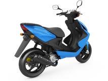 Modern blå sparkcykel Royaltyfri Fotografi