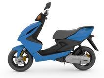 Modern blå sparkcykel Royaltyfria Bilder