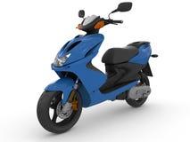 Modern blå sparkcykel Arkivbilder