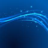 Modern blå swoosh för makthastighetsabstrakt begrepp Royaltyfri Bild