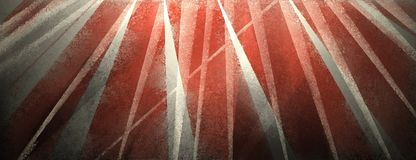Modern black background with distressed white and red stripes and triangles stock illustration