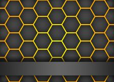 Modern black background with hexagon Royalty Free Stock Images