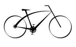 Modern black bike,vector. Isolated on white Stock Photos