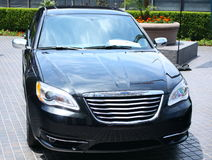 Modern Black Car Royalty Free Stock Images