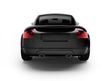 Modern black car back view Stock Photos