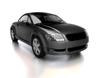 Modern black car front view Royalty Free Stock Images