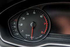 Modern black car instrument panel. With different displays Royalty Free Stock Image