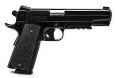 Modern black and chrome pistol filtered gun  Stock Image