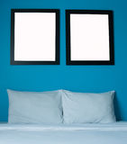 Black frame in bedroom Stock Photos