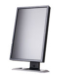 Modern black computer monitor Stock Photo