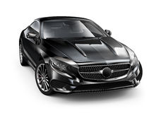 Modern black coupe car Royalty Free Stock Photo
