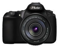 Digital SLR photo camera Royalty Free Stock Photos