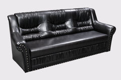 Modern black furniture isolated Stock Photos