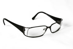 Modern black glasses Stock Photo