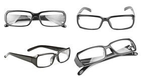 Modern black glasses isolated on white Royalty Free Stock Photo
