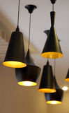 Modern black lamps. Stock Image