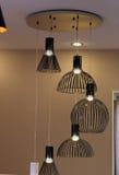 Modern black lamps. Royalty Free Stock Photo