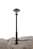 Modern Black Lantern in the park. Royalty Free Stock Photo