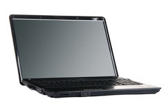 Modern black laptop Royalty Free Stock Photo