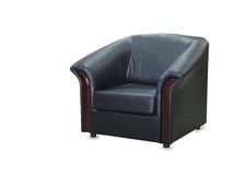 Modern black leather chair isolated Stock Image