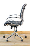 Modern black leather office chair Stock Images