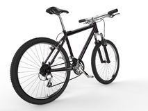 Modern black mountain bike Stock Photo