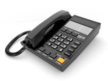 Modern black office telephone Stock Image