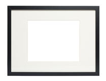 Modern Black photo frame (with clipping path) Royalty Free Stock Photos