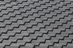 Modern black roof tiling pattern, background texture Stock Images