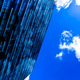 Modern black skyscraper blocks Royalty Free Stock Images