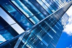Modern black skyscraper blocks Royalty Free Stock Images