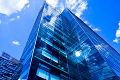 Modern black skyscraper on sky Royalty Free Stock Image