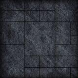 Modern black slab ,slate stone wall background / black stone Stock Photography
