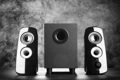 Modern black sound speakers Royalty Free Stock Photo