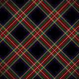 Modern Black Stewart tartan Royalty Free Stock Photos
