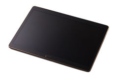 Modern black tablet pc. Isolated on white Stock Images