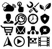 Modern black web icon set Stock Photo