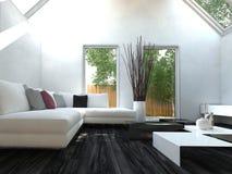 Modern black and white design style living room Stock Photo