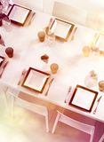 Fine table setting top view Royalty Free Stock Photography