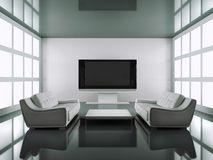 Modern black and white interior Royalty Free Stock Photos