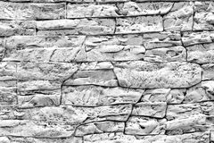 Modern black and white stone wall texture background. Modern black and white stone wall texture for background royalty free stock photo