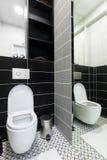 Modern black and white toilet Stock Photos