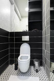 Modern black and white toilet Royalty Free Stock Photography