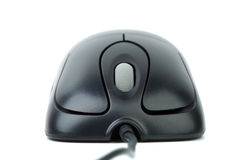 Modern black wired optical mouse Royalty Free Stock Photo