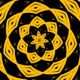 Modern black yellow art graphic composition. Checked wrapped illustration image. Creative abstract fantasy background. Element. Royalty Free Stock Photos