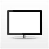 Modern blank flat screen tv Stock Photography