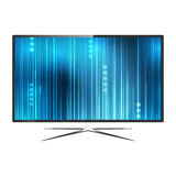 Modern blank flat screen TV set Stock Photo