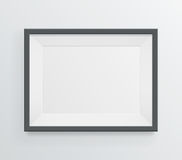Modern blank frame on grayscale background Stock Image
