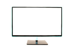 Modern blank white computer monitor Royalty Free Stock Image
