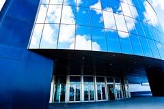 Modern blauw bureau stock foto